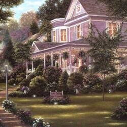 Пазл онлайн: Дом с верандой