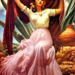 Пазл онлайн: Мексиканка