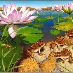 Пазл онлайн: Тропическое озеро