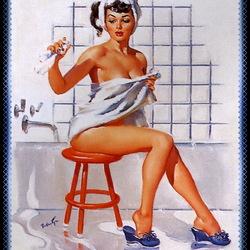 Пазл онлайн: В ванной