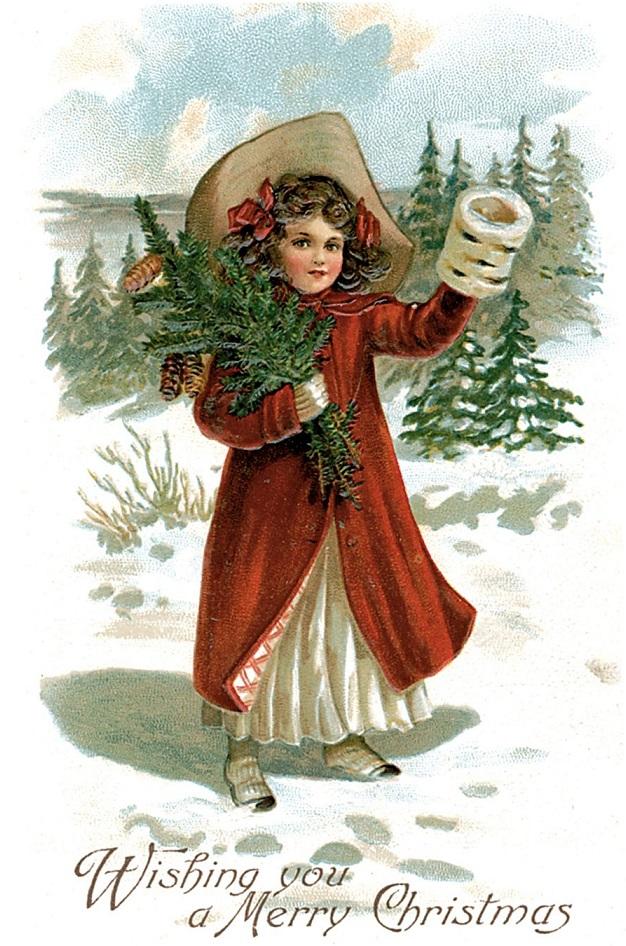 Винтажные открытки новый год рождество
