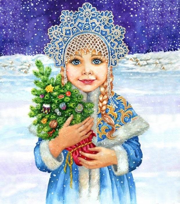 Картинка со снегуркой
