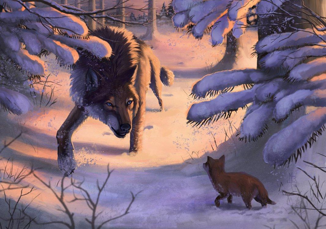 картинка лес волк снег мой вкус