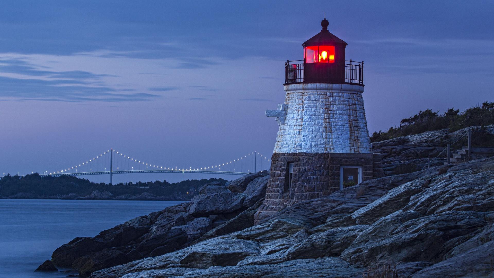 картинки ночного маяка чём