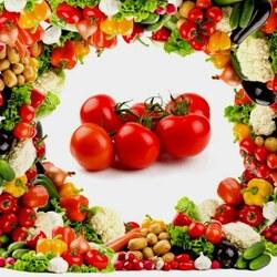 Пазл онлайн: Овощной коллаж