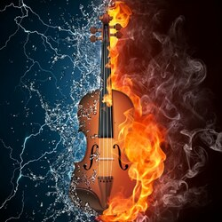 Пазл онлайн: Скрипка