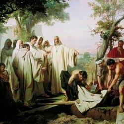Пазл онлайн: Святой Григорий проклинает умершего монаха за нарушение обета бессеребрия