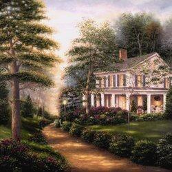 Пазл онлайн: Дом в викторианском стиле