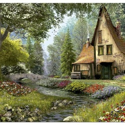 Пазл онлайн: Волшебный домик
