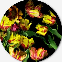 Пазл онлайн: Пестрые тюльпаны