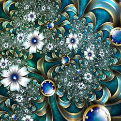 Пазл онлайн: Цветочное кружево