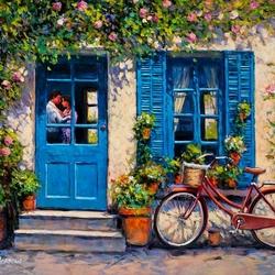 Пазл онлайн: Поцелуй за дверью