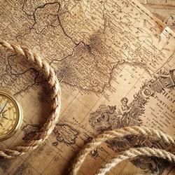 Пазл онлайн: Старинная карта