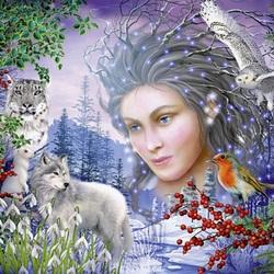 Пазл онлайн: Дух зимы