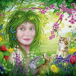 Пазл онлайн: Дух весны