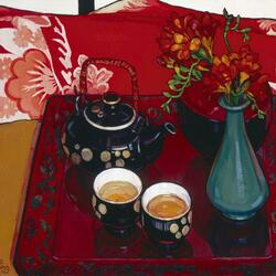 Пазл онлайн: Натюрморт с чаем