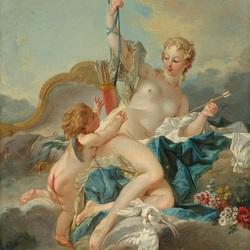Пазл онлайн: Венера разоружает амура