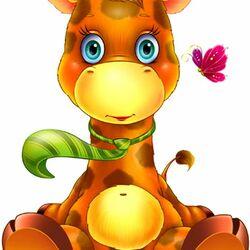 Пазл онлайн: Жирафенок