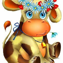 Пазл онлайн: Коровушка