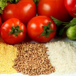 Пазл онлайн: Крупы с овощами