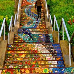 Пазл онлайн: Лестница наверх