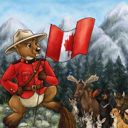 Пазл онлайн: Королевская канадская полиция