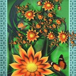 Пазл онлайн: Осенний цветник