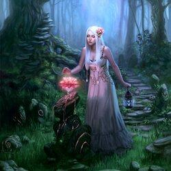 Пазл онлайн: Магический цветок