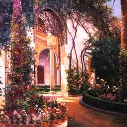 Пазл онлайн: Севильский двор