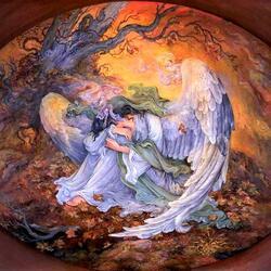 Пазл онлайн: Скорбящий ангел