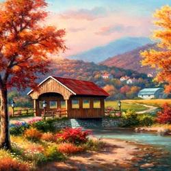 Пазл онлайн: Деревянный мост