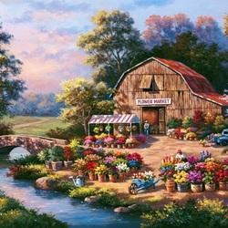 Пазл онлайн: Магазин цветов