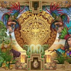 Пазл онлайн: Календарь Майя
