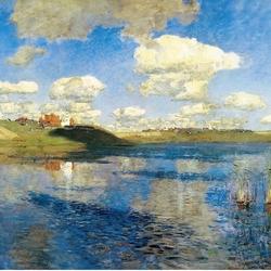 Пазл онлайн: Озеро. Русь