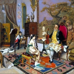 Пазл онлайн: Музыкальный урок