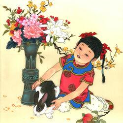 Пазл онлайн: Зодиак для детей. Год кролика
