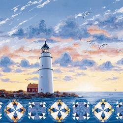 Пазл онлайн: Пэчворк, созданный светом маяка