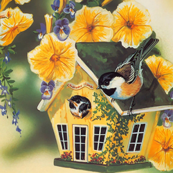 Пазл онлайн: Синичкин дом