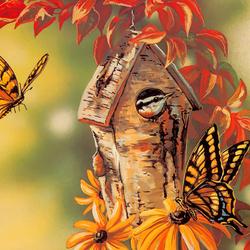 Пазл онлайн: Бабочек на дом заказывали?