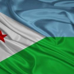 Пазл онлайн: Флаг Республики Джибути