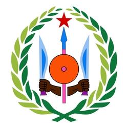 Пазл онлайн: Герб Республики Джибути