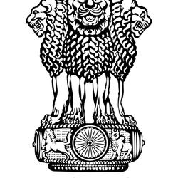 Пазл онлайн: Герб Индии
