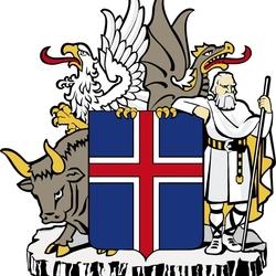 Пазл онлайн: Герб Исландии