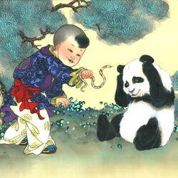 Пазл онлайн: Зодиак для детей. Год змеи