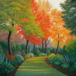 Пазл онлайн: Октябрь в саду