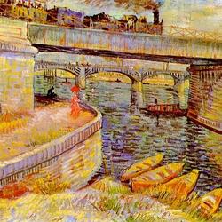 Пазл онлайн: Мост в Аньере