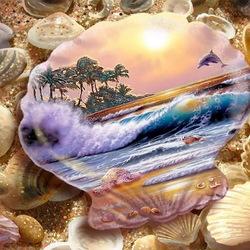 Пазл онлайн: Фантазии морской ракушки