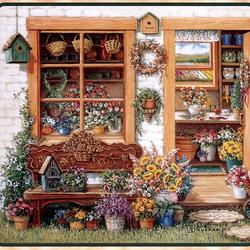 Пазл онлайн: Цветочный домик