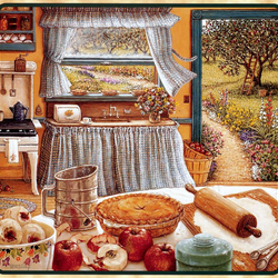 Пазл онлайн: Яблочный пирог на праздник урожая