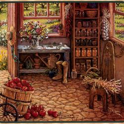 Пазл онлайн: Кабинет садовода